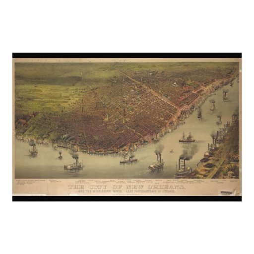 The City of New Orleans Louisiana from 1885 Stationery
