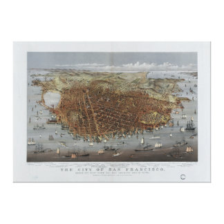 The City of San Francisco California from 1878 Canvas Prints