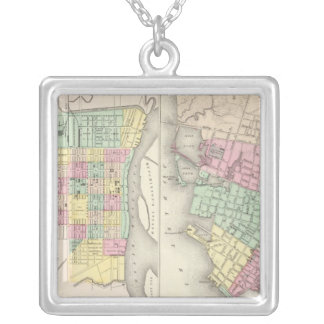 The City Of Savannah Georgia Silver Plated Necklace