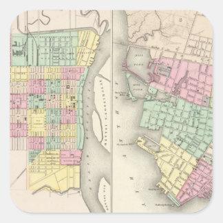 The City Of Savannah Georgia Square Sticker
