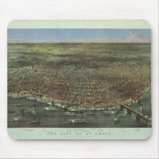 The City of St. Louis Missouri from 1874 Mouse Mat