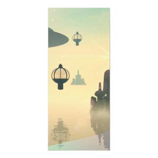The city of the future 10 cm x 24 cm invitation card