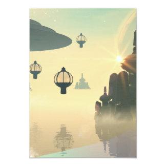 The city of the future 13 cm x 18 cm invitation card