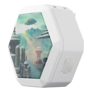 The city of the future on the ocean white boombot rex bluetooth speaker