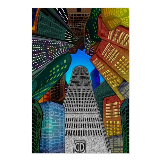 The City:  Vertical Vertigo Poster