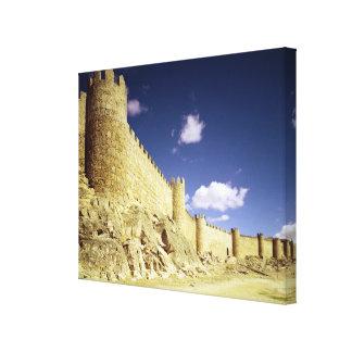 The city walls canvas print