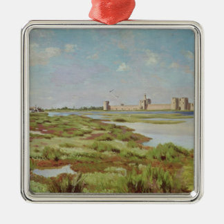 The City Walls of Aigues-Mortes, 1867 Christmas Ornament