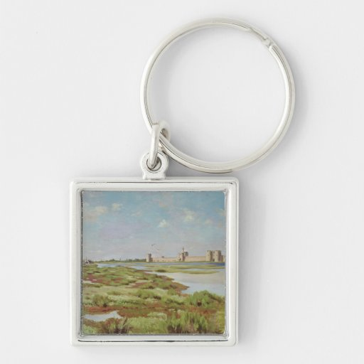 The City Walls of Aigues-Mortes, 1867 Keychain