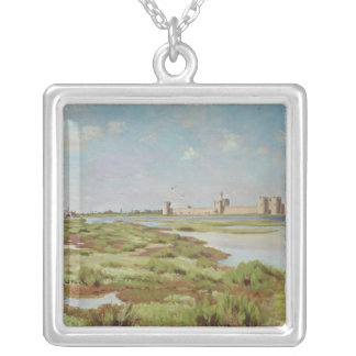 The City Walls of Aigues-Mortes, 1867 Silver Plated Necklace