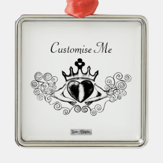The Claddagh (Black) Christmas Ornament
