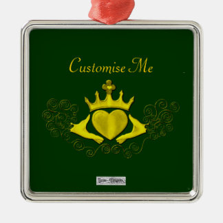 The Claddagh (Gold) Christmas Ornament