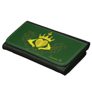 The Claddagh (Gold) Leather Wallet For Women