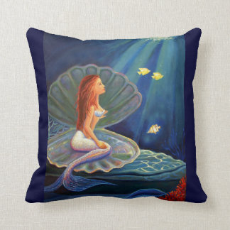 The Clamshell Mermaid - Throw Pillow