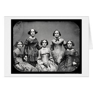 The Clark Sisters Daguerreotype 1845 Greeting Card