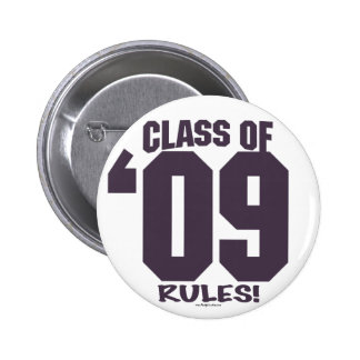 The Class of 2009 Rocks Grad Gear 6 Cm Round Badge