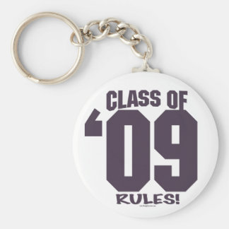 The Class of 2009 Rocks Grad Gear Basic Round Button Key Ring
