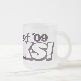 The Class of 2009 Rocks Grad Gear Frosted Glass Coffee Mug