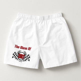 The Class of 2017 Graduation Checkered Flag Boxers