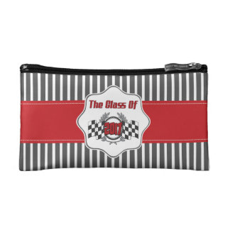 The Class of 2017 Graduation Checkered Flag Cosmetics Bags