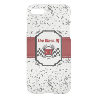 The Class of 2017 Graduation Checkered Flag iPhone 8/7 Case