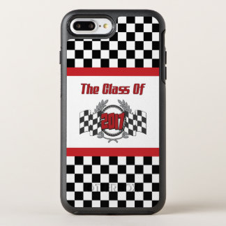 The Class of 2017 Graduation Checkered Flag OtterBox Symmetry iPhone 8 Plus/7 Plus Case