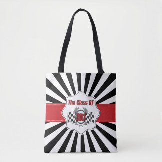 The Class of 2017 Graduation Checkered Flag Tote Bag