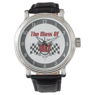 The Class of 2017 Graduation Checkered Flag Wrist Watches