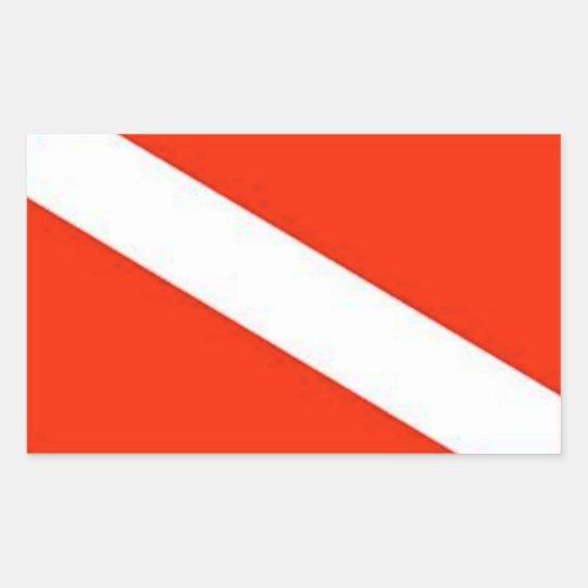 The Classic Diver Down Flag Rectangular Sticker