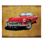 The Classic MG MGB roadster Poster