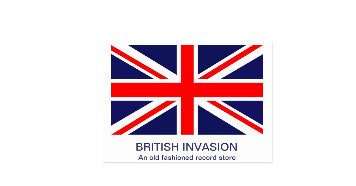 The classic union jack large business cards pack of 100 for Union made business cards