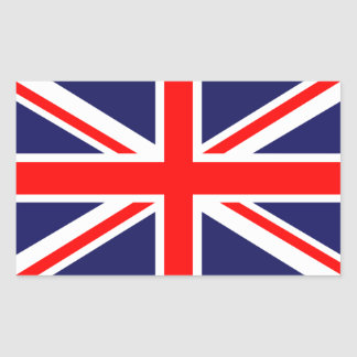 The Classic Union Jack Rectangular Sticker