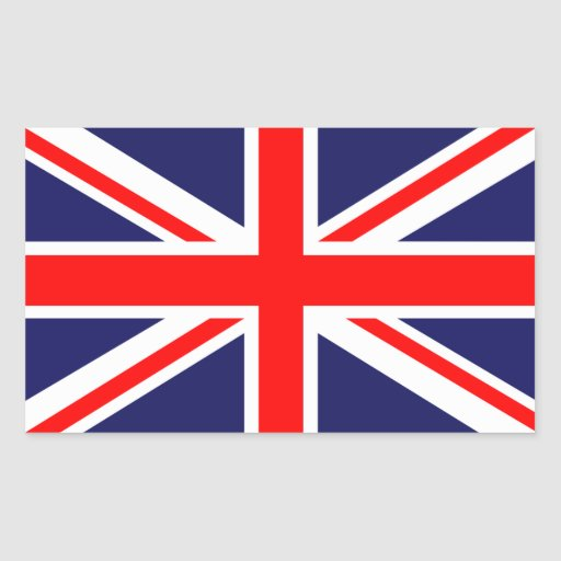The Classic Union Jack Rectangle Sticker