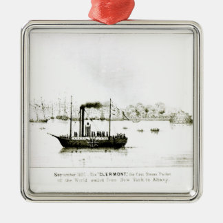 The 'Clermont', the first Steam Packet Silver-Colored Square Decoration