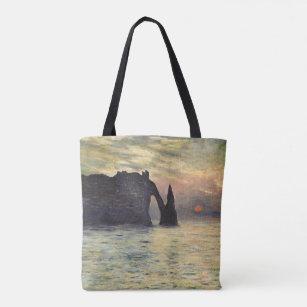 The Rocky Cliffs of Etretat by Claude Monet Laptop Messenger Bag