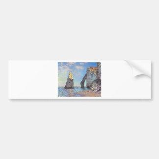 The Cliffs at Etretat - Claude Monet Car Bumper Sticker