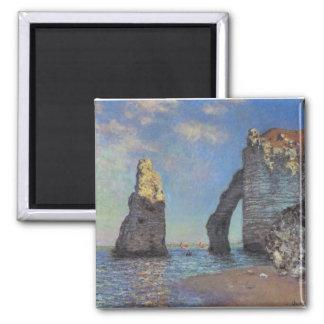The Cliffs at Etretat Square Magnet