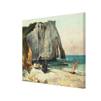 The Cliffs of Etretat, the Port of Avale Canvas Print