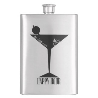 The Climb Is My Happy Hour Flask