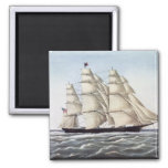 "The Clipper Ship ""Flying Cloud"" Fridge Magnets"