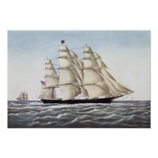 "The Clipper Ship ""Flying Cloud"" Poster"