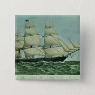 The Clipper ship 'Highflyer', 1111 tons 15 Cm Square Badge