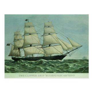 The Clipper ship 'Highflyer', 1111 tons Postcard