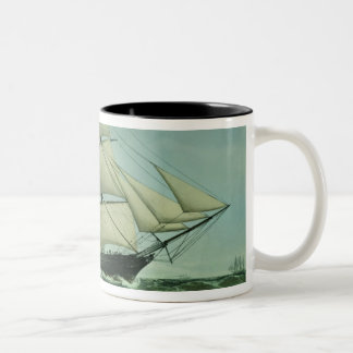 The Clipper ship 'Highflyer', 1111 tons Two-Tone Coffee Mug