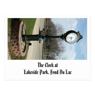 The Clock at Lakeside Park, Fond Du Lac Postcard