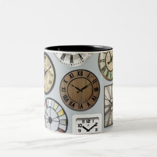 """THE CLOCK WATCHER'S"" MUG-OR 5 O'CLOCK SOMEWHERE Two-Tone COFFEE MUG"