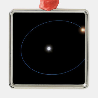 The clockwork-like orbits of a triple-star syst Silver-Colored square decoration