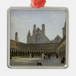 The Cloister of Mont Saint-Michel Christmas Ornament
