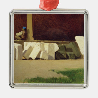 The Cloister (oil on canvas) Christmas Ornament