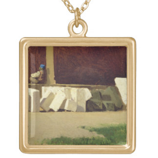 The Cloister (oil on canvas) Personalized Necklace