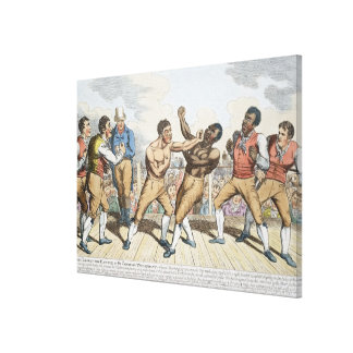 The Close of the Battle or the Champion Triumphant Canvas Print